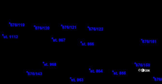 Parcela st. 866 v k.ú. Prštné, Katastrální mapa
