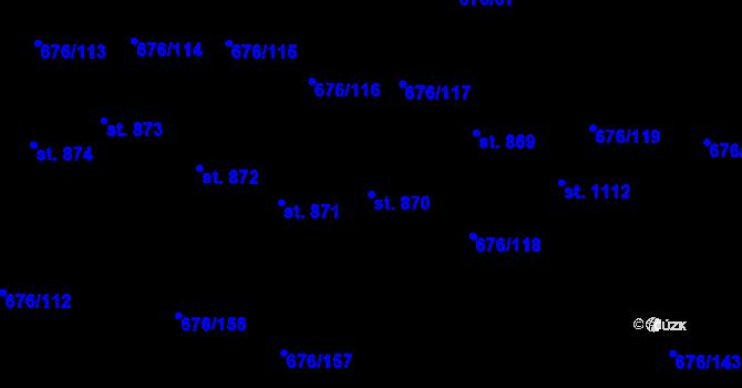 Parcela st. 870 v k.ú. Prštné, Katastrální mapa