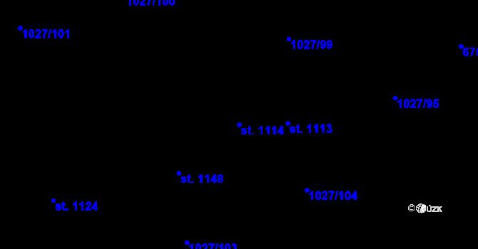 Parcela st. 1114 v k.ú. Prštné, Katastrální mapa