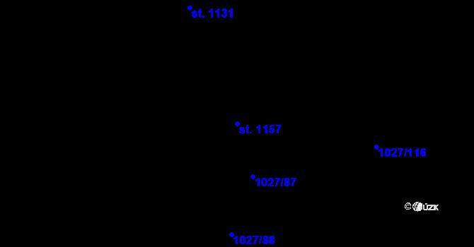 Parcela st. 1157 v k.ú. Prštné, Katastrální mapa