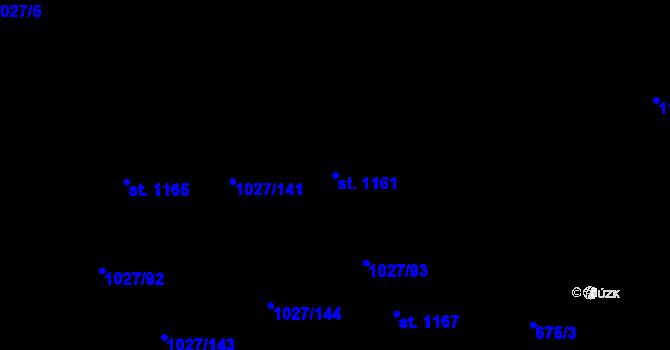 Parcela st. 1161 v k.ú. Prštné, Katastrální mapa