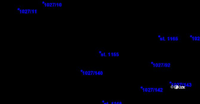Parcela st. 1155 v k.ú. Prštné, Katastrální mapa