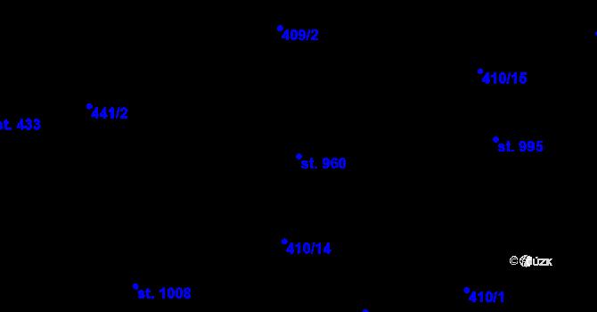 Parcela st. 960 v k.ú. Mladcová, Katastrální mapa