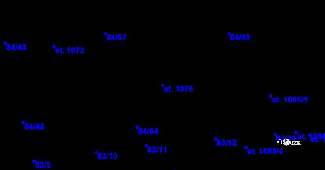 Parcela st. 1076 v k.ú. Mladcová, Katastrální mapa