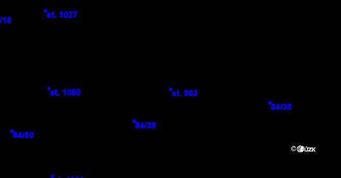 Parcela st. 983 v k.ú. Mladcová, Katastrální mapa