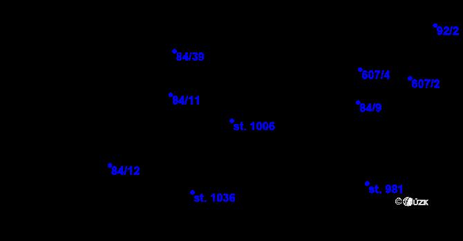 Parcela st. 1006 v k.ú. Mladcová, Katastrální mapa