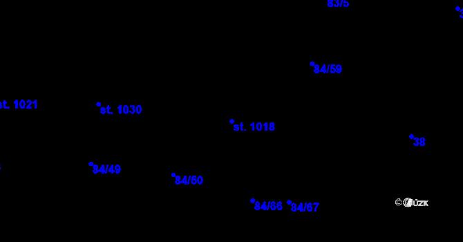 Parcela st. 1018 v k.ú. Mladcová, Katastrální mapa
