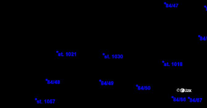 Parcela st. 1030 v k.ú. Mladcová, Katastrální mapa