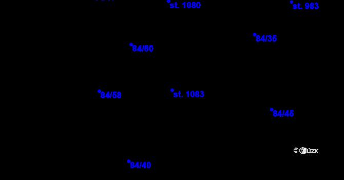 Parcela st. 1083 v k.ú. Mladcová, Katastrální mapa