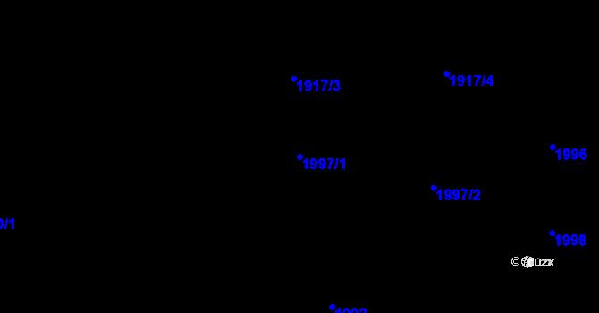 Parcela st. 1997/1 v k.ú. Šumbark, Katastrální mapa