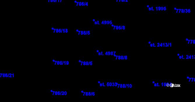 Parcela st. 4987 v k.ú. Havlíčkův Brod, Katastrální mapa