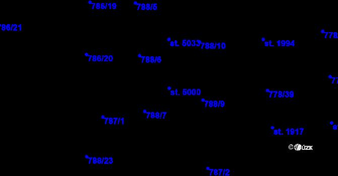 Parcela st. 5000 v k.ú. Havlíčkův Brod, Katastrální mapa
