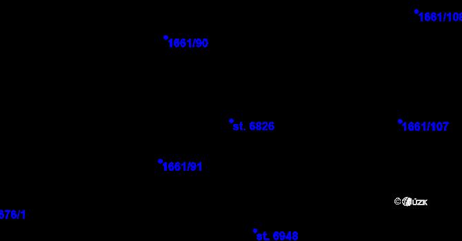 Parcela st. 6826 v k.ú. Havlíčkův Brod, Katastrální mapa