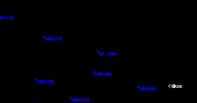 Parcela st. 7654 v k.ú. Havlíčkův Brod, Katastrální mapa