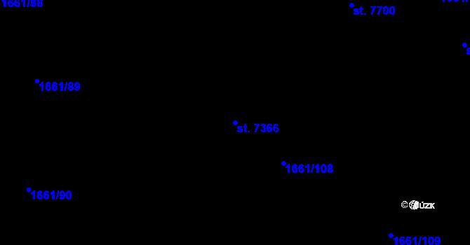 Parcela st. 7366 v k.ú. Havlíčkův Brod, Katastrální mapa
