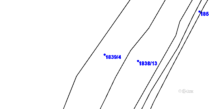 Parcela st. 1839/4 v k.ú. Hlohovec, Katastrální mapa