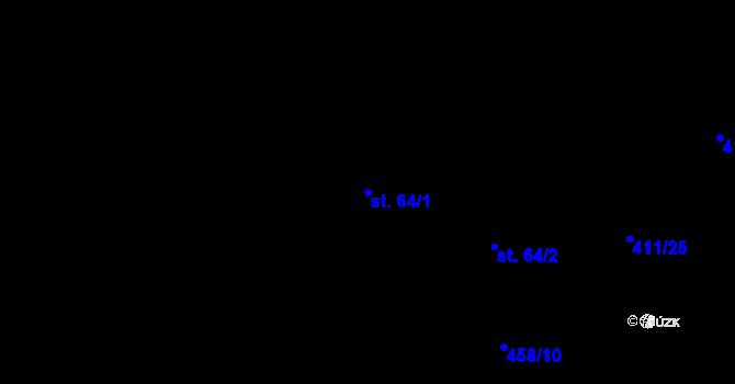 Parcela st. 64/1 v k.ú. Hodonín u Kunštátu, Katastrální mapa