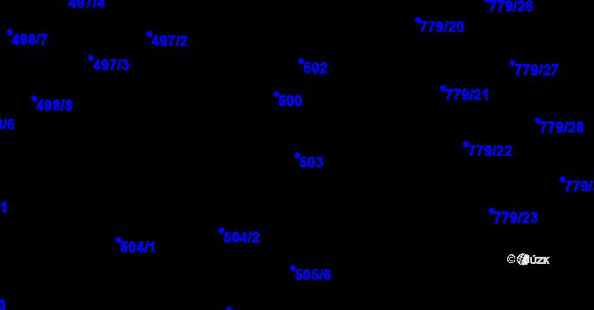Parcela st. 503 v k.ú. Holice u Olomouce, Katastrální mapa