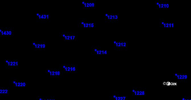 Parcela st. 1214 v k.ú. Holice u Olomouce, Katastrální mapa