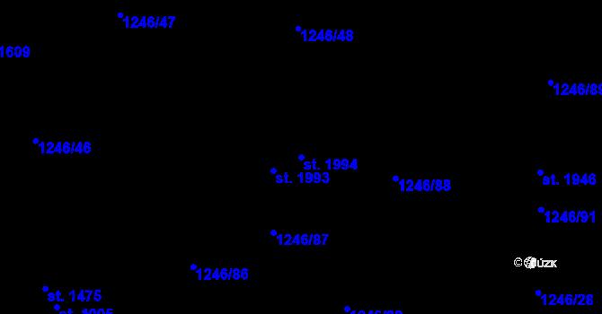 Parcela st. 1994 v k.ú. Holýšov, Katastrální mapa
