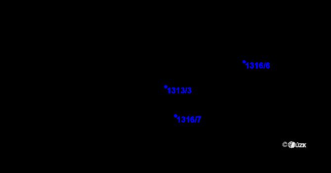 Parcela st. 1313/3 v k.ú. Závraty, Katastrální mapa