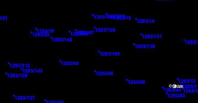 Parcela st. 1293/199 v k.ú. Horní Kosov, Katastrální mapa