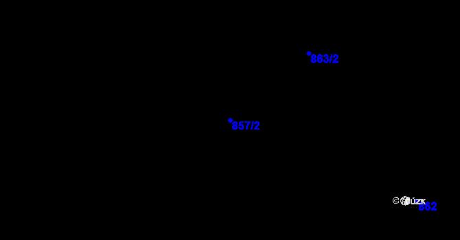 Parcela st. 857/2 v k.ú. Horní Lideč, Katastrální mapa