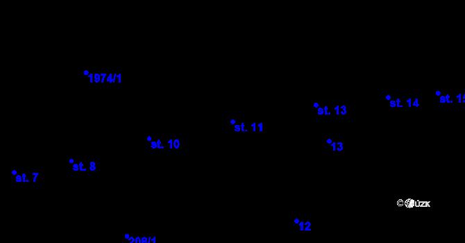 Parcela st. 11 v k.ú. Horní Stropnice, Katastrální mapa