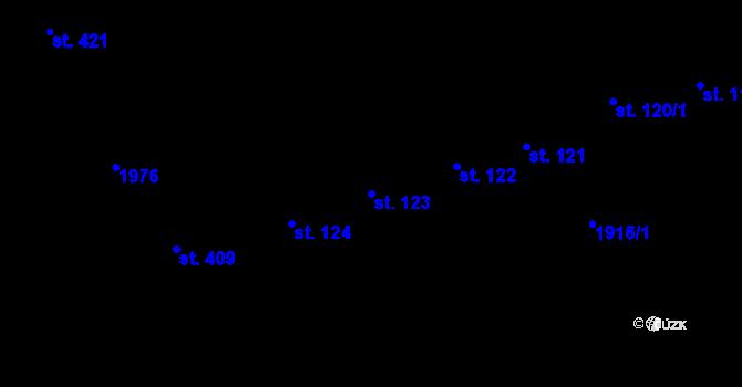 Parcela st. 123 v k.ú. Horní Stropnice, Katastrální mapa