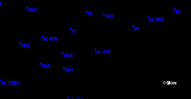 Parcela st. 252 v k.ú. Horní Stropnice, Katastrální mapa