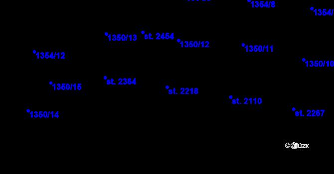 Parcela st. 2218 v k.ú. Hovězí, Katastrální mapa