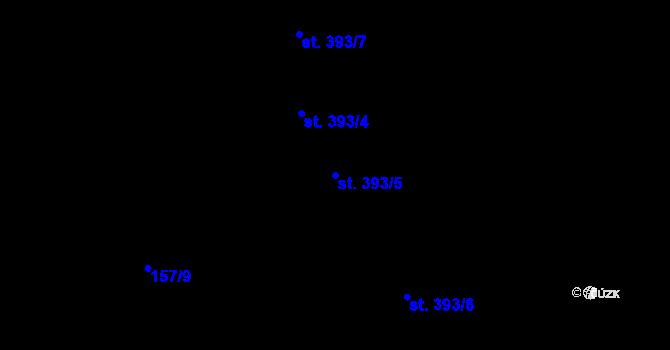 Parcela st. 393/5 v k.ú. Hradec Králové, Katastrální mapa