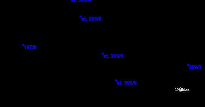 Parcela st. 393/6 v k.ú. Hradec Králové, Katastrální mapa