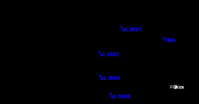 Parcela st. 393/7 v k.ú. Hradec Králové, Katastrální mapa