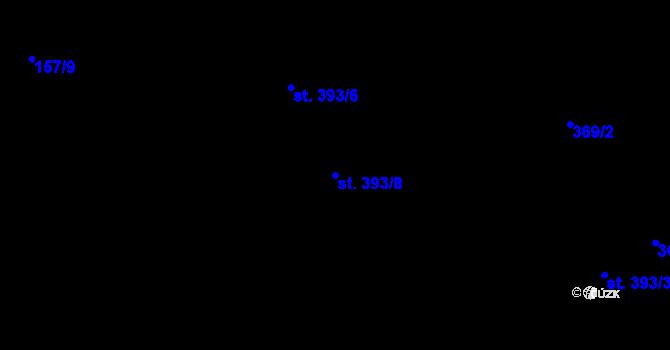 Parcela st. 393/8 v k.ú. Hradec Králové, Katastrální mapa