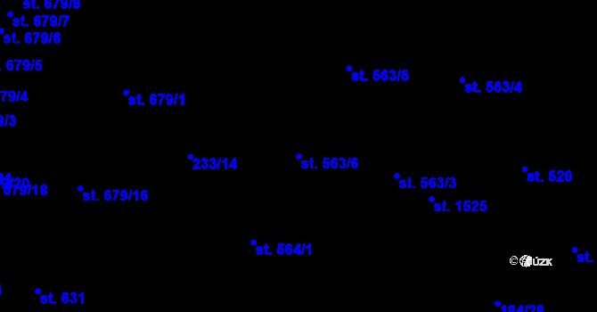 Parcela st. 563/6 v k.ú. Hradec Králové, Katastrální mapa