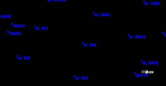 Parcela st. 565 v k.ú. Hradec Králové, Katastrální mapa