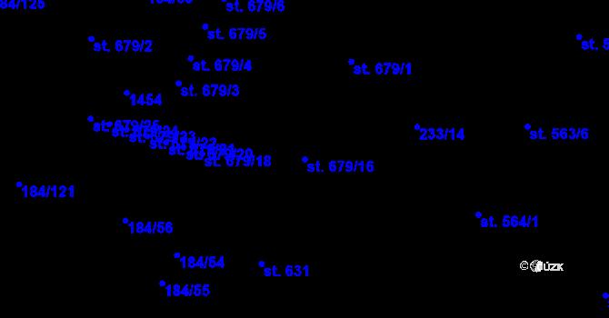 Parcela st. 679/16 v k.ú. Hradec Králové, Katastrální mapa