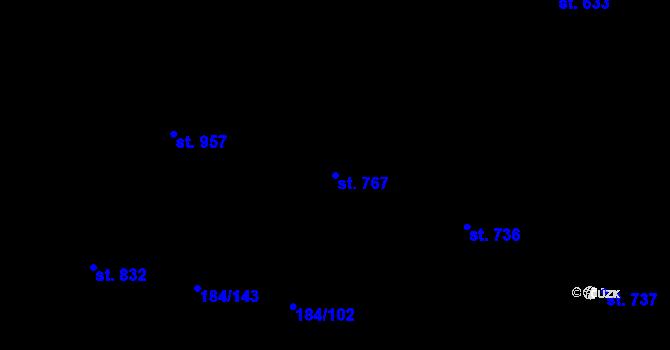Parcela st. 767 v k.ú. Hradec Králové, Katastrální mapa
