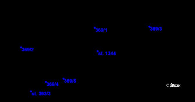 Parcela st. 1344 v k.ú. Hradec Králové, Katastrální mapa