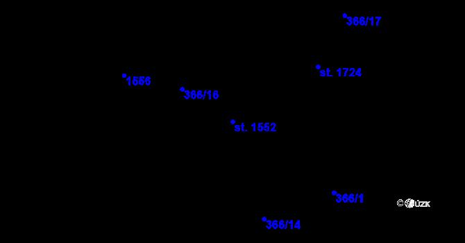 Parcela st. 1552 v k.ú. Hradec Králové, Katastrální mapa