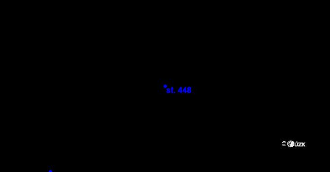 Parcela st. 448 v k.ú. Třebeš, Katastrální mapa