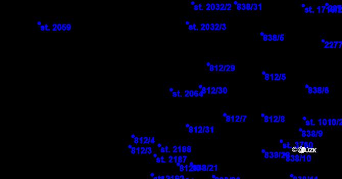 Parcela st. 2064 v k.ú. Pražské Předměstí, Katastrální mapa