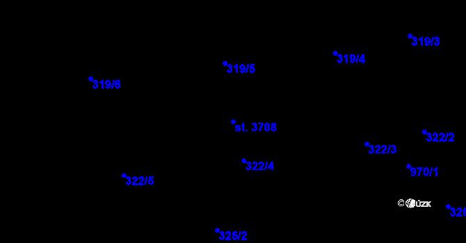 Parcela st. 3708 v k.ú. Nový Hradec Králové, Katastrální mapa