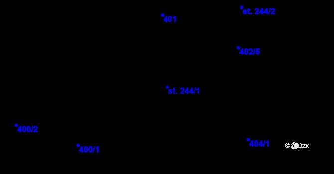 Parcela st. 244/1 v k.ú. Hradec nad Svitavou, Katastrální mapa