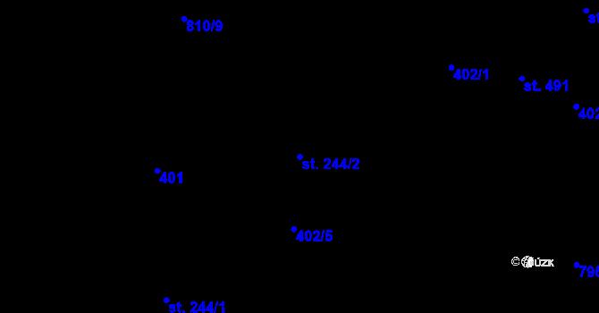 Parcela st. 244/2 v k.ú. Hradec nad Svitavou, Katastrální mapa