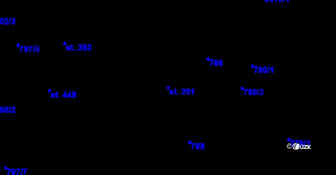 Parcela st. 291 v k.ú. Hradec nad Svitavou, Katastrální mapa