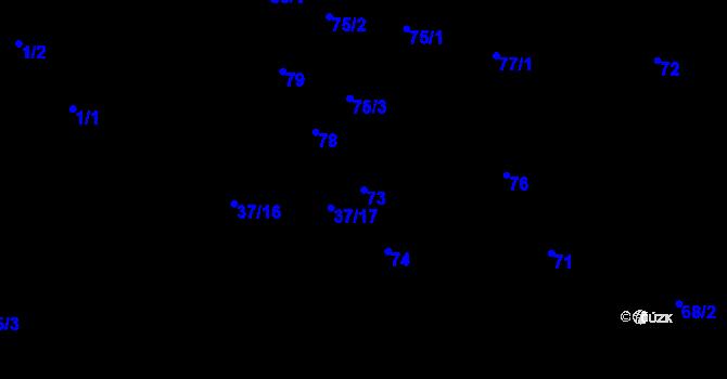 Parcela st. 73 v k.ú. Hudcov, Katastrální mapa