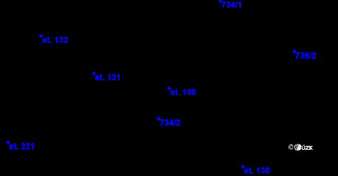Parcela st. 159 v k.ú. Vilémov u Humpolce, Katastrální mapa