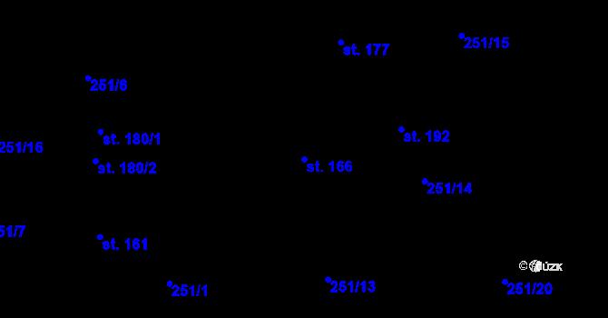 Parcela st. 166 v k.ú. Vilémov u Humpolce, Katastrální mapa